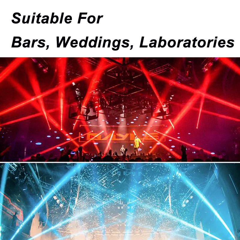 500W Fog Smoke Stage Light LED Wireless Smoke Fog Fogger Machine RGB + Remote Controller Party For Weddings Holidays