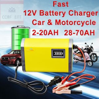 Fast Charge 12v 2a 6a Portable Car Motorcycle Lead Acid Battery