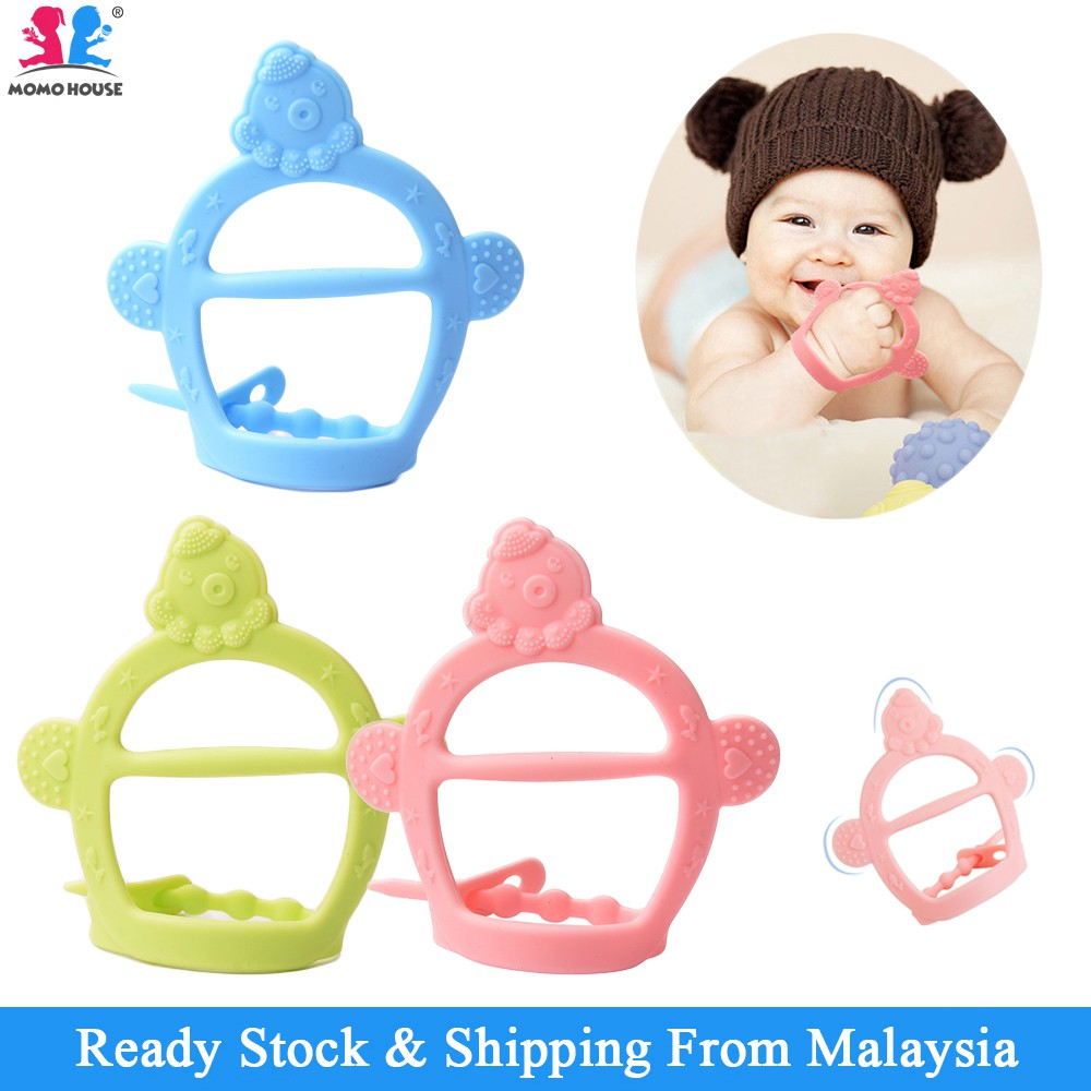 Silicone Baby Teether Glove Food Grade Teether Anti-Biting Gloves