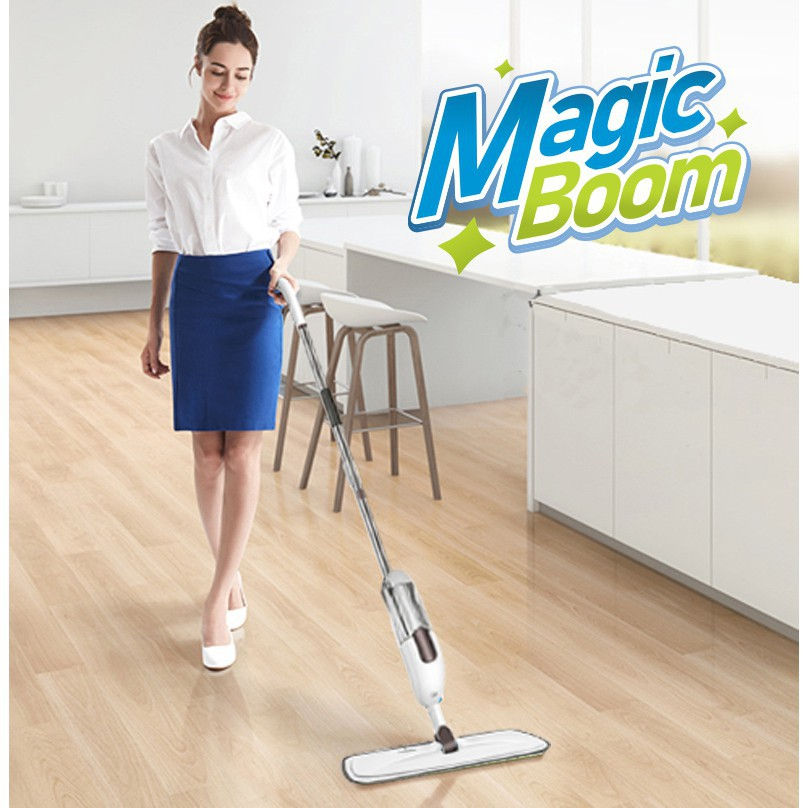 CLEARANCE 】SPRAY MOP - ERGONOMICALLY DESIGNED HANDLE | MAGICBOOM AURORA |  Shopee Malaysia