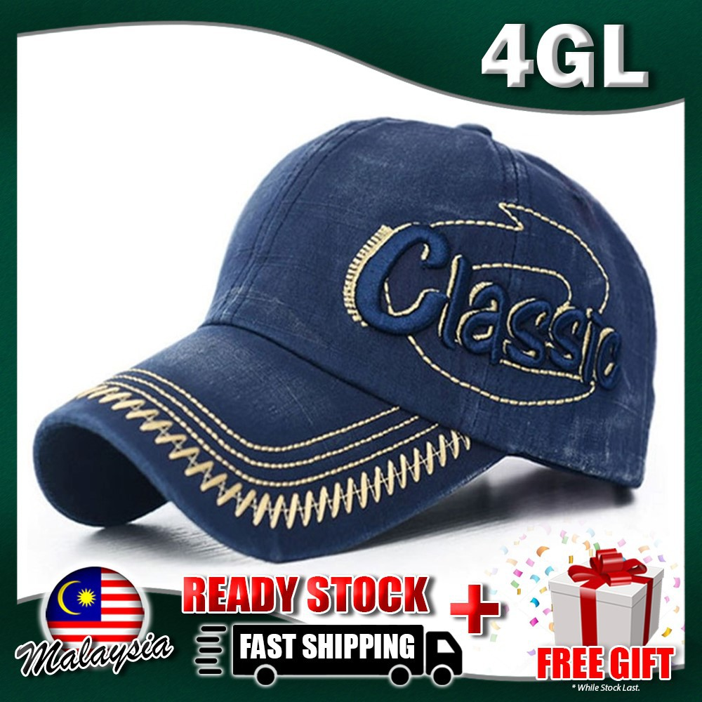 79e7f752660645 ProductImage. ProductImage. READY STOCK 4GL Classic 002 Unisex Canvas Cap  Snapback Hat Topi