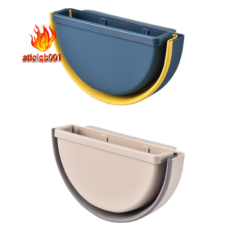 2pcs Collapsible Hanging Trash Can Small Kitchen Garbage Can Plastic Hanging Waste Bin Under Kitchen Sink Trash Bin Garbage Bin Shopee Malaysia
