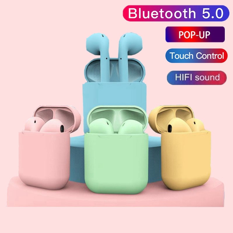 Inpods I12 TWS Earphone Earbuds Wireless Bluetooth V5.0 Headphone with Mic for iPhone Samsung Huawei OPPO Xiaomi VIVO