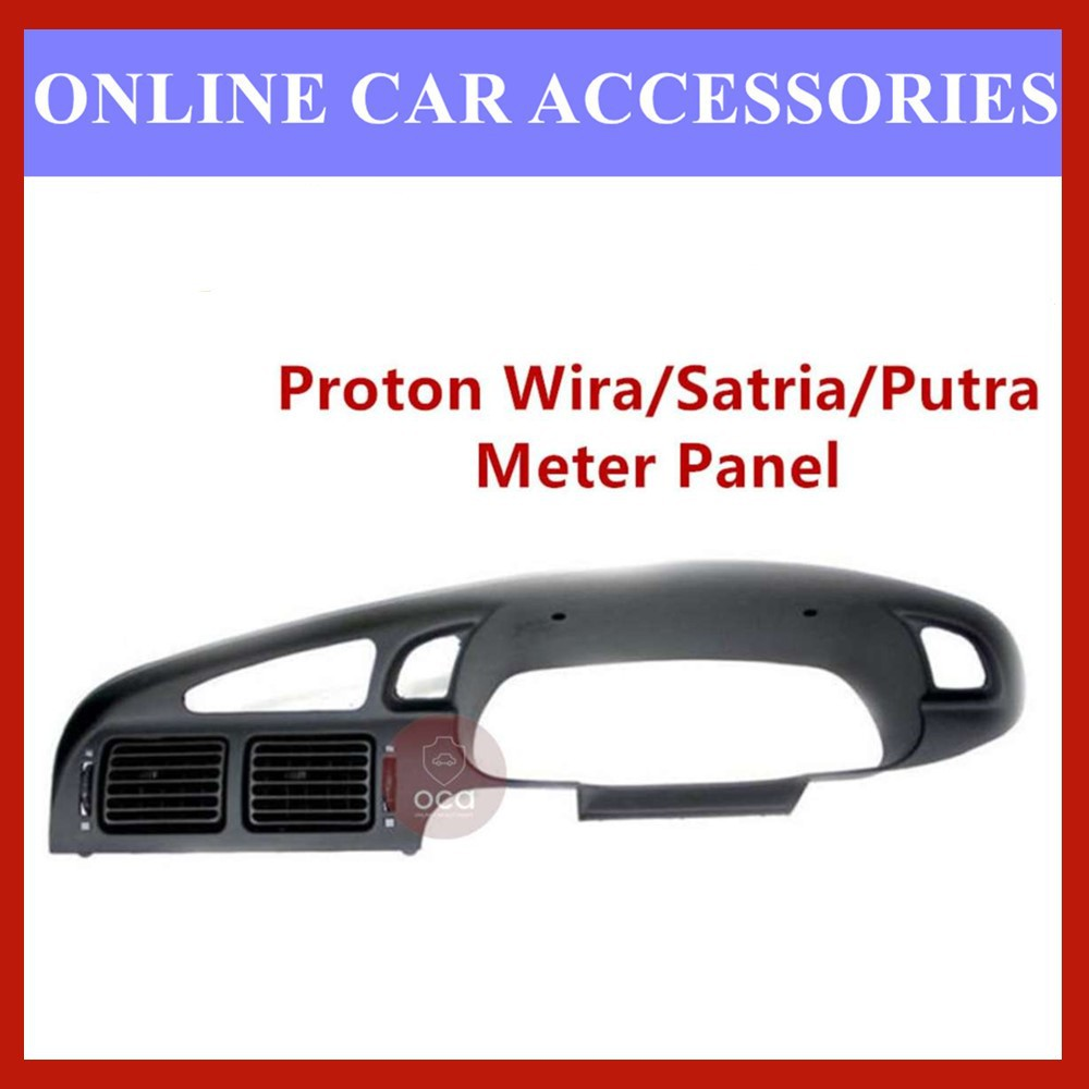 Proton Wira/Satria Dashboard Meter Cluster Meter Panel With Aircond Vent With Radio Panel - Black