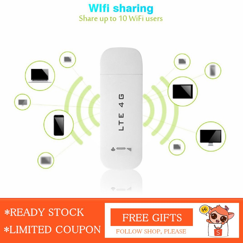 🚀READY STOCK🚀 4G LTE USB Network Adapter Wireless WiFi Hotspot Router