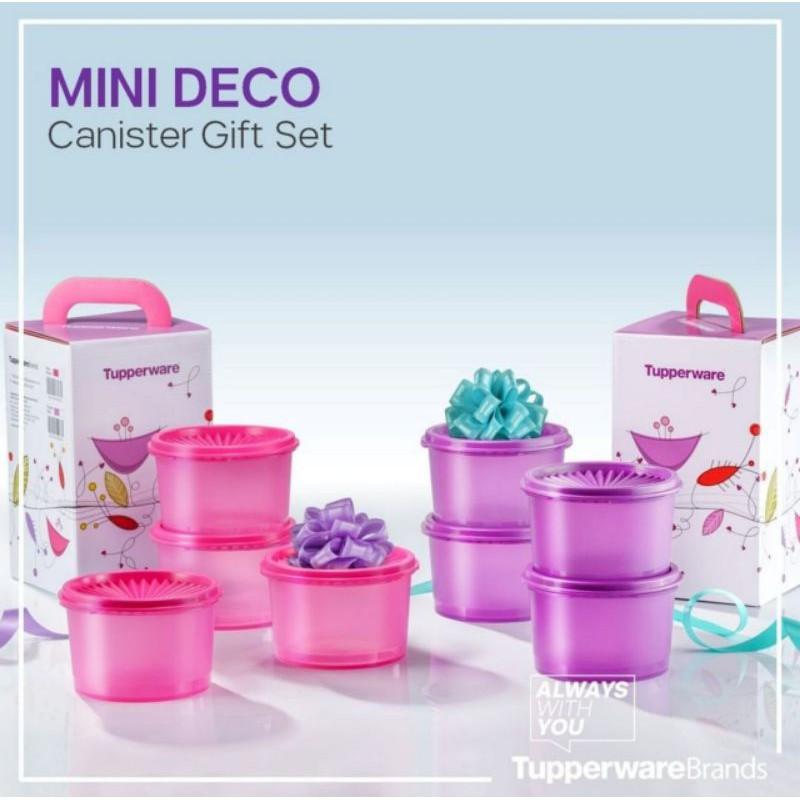 Tupperware Mini Deco Canister Gift Set