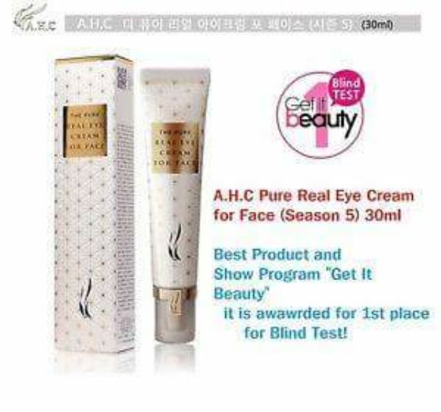 【CLEARANCE】A.H.C The Pure Real Eye Cream for Face Season 6