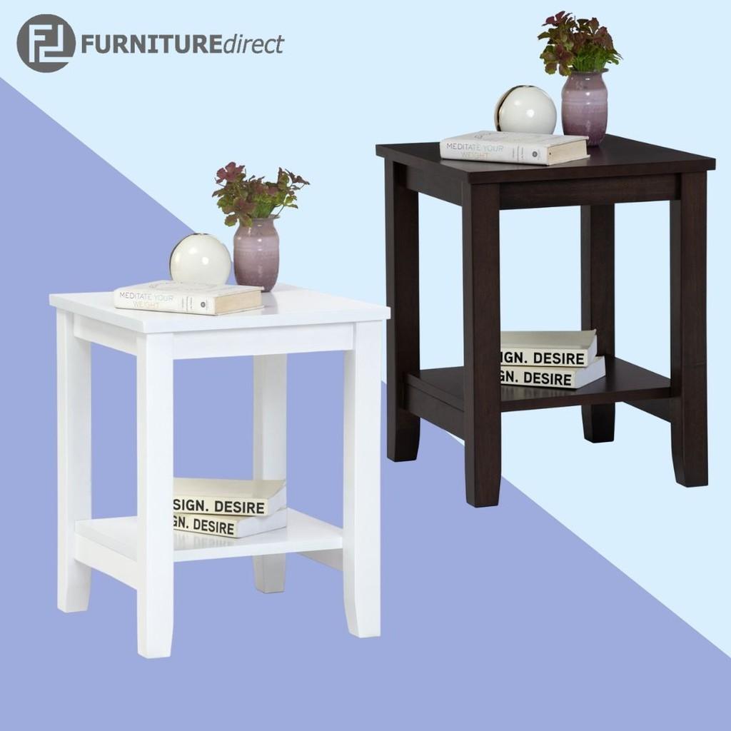 ELINA 40x40cm solid wood side table/ side table/ meja tepi