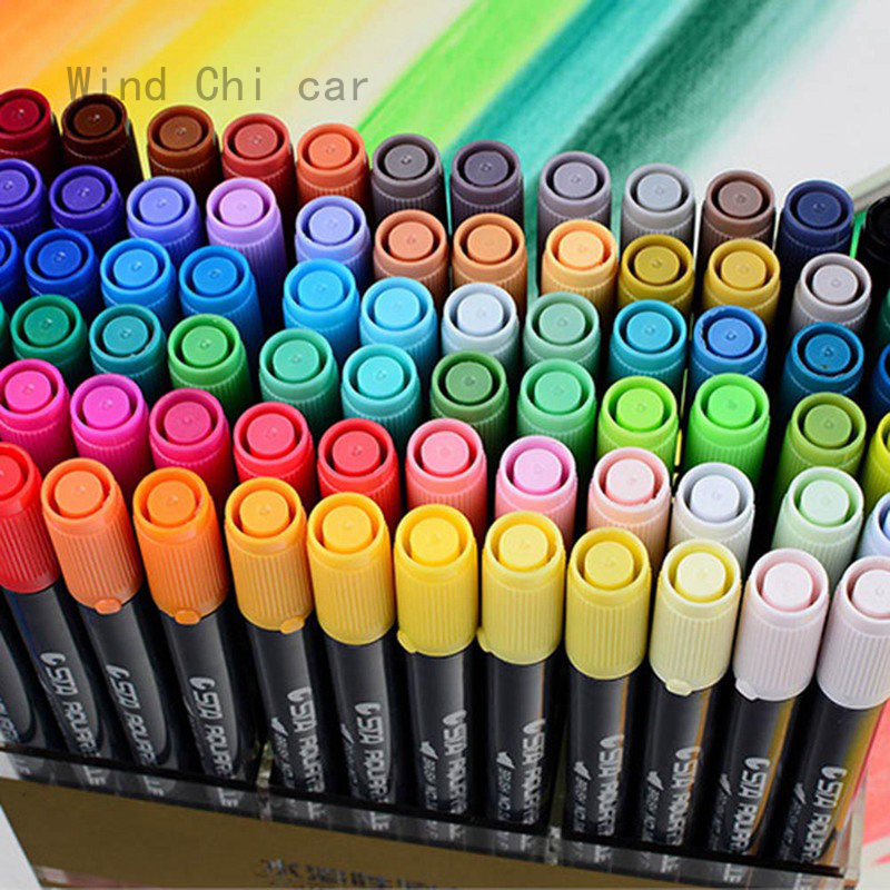 24//48//60//80 Colour Set Touch Markers Twin Tip Graphic Art Set Sketch Broad Fine