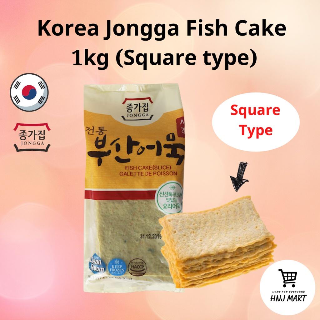 (Frozen) Korea Jongga Fish Cake Slice 1kg (Odong-Dong Eomuk) 韩国鱼饼/韩国鱼糕