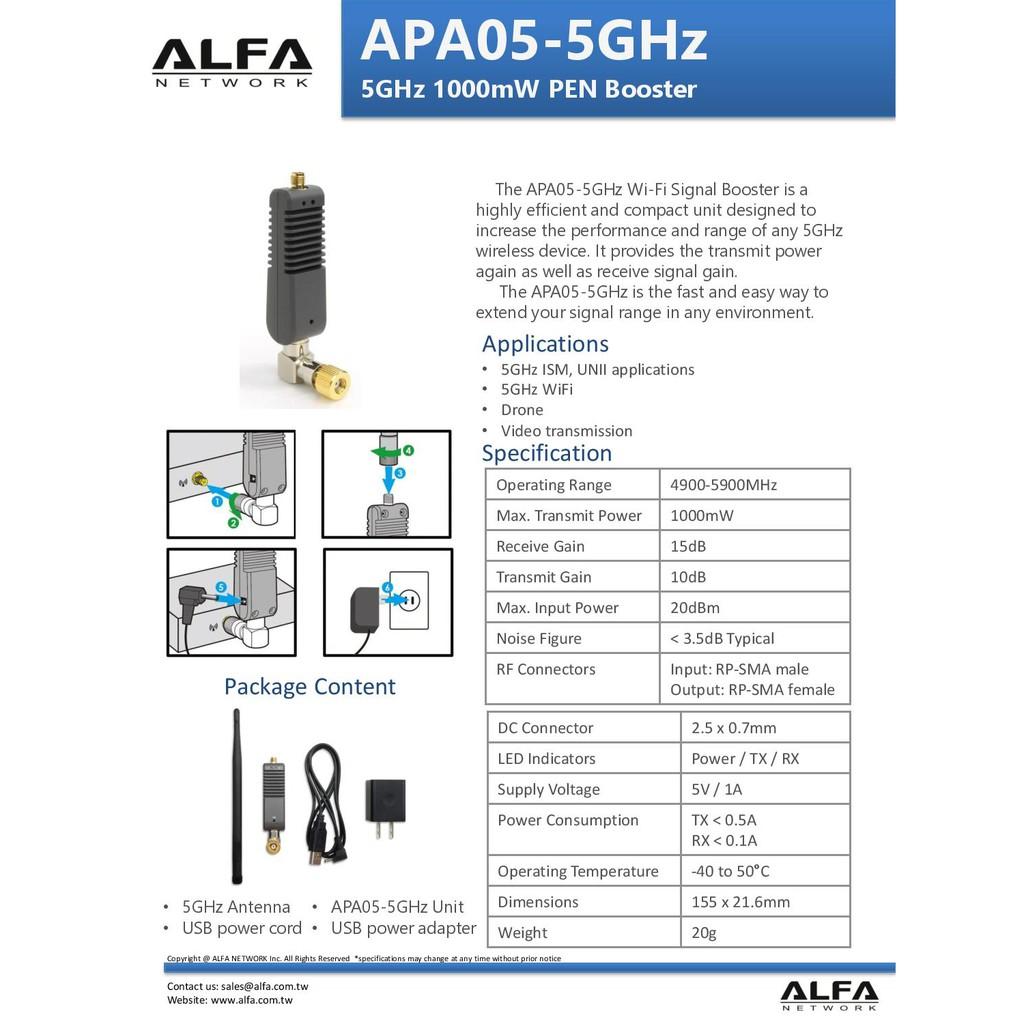 5x Alfa AGA-2424T 24dBi Grid Outdoor Super High Gain Booster with N Female Conct