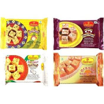 Haldiram\'s Soan Papdi - Coconut / Orange - 250g