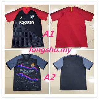 brand new 155cf add26 2018-2019 Barcelona Air Jordan Training Soccer Jersey Shirt ...