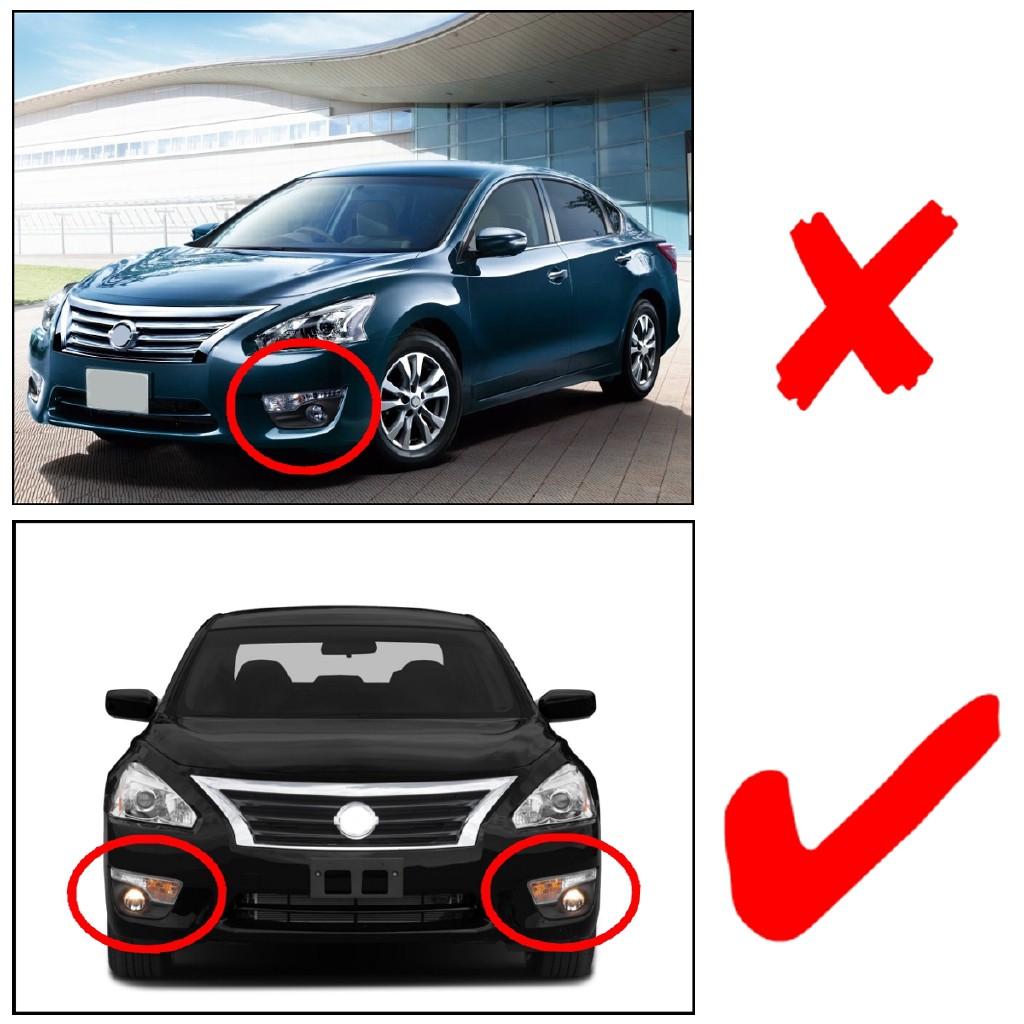 Front Bumper Fog Light Bezel Cover Grill For Nissan Teana Altima Sedan 2013-2015