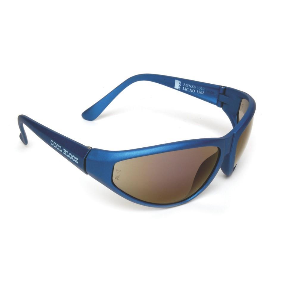MSA Cool Blooz Protection Safety Glasses Eye Wear Blue Frame/ Blue Mirror Lens