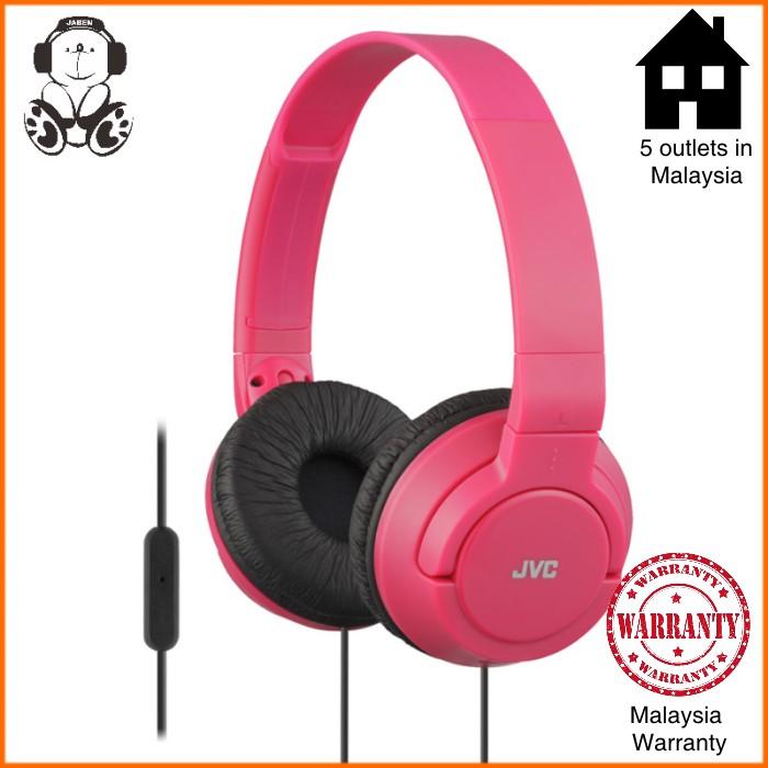 JVC HA-SR185 Wired Colorful Microphone On-Ear Headphones