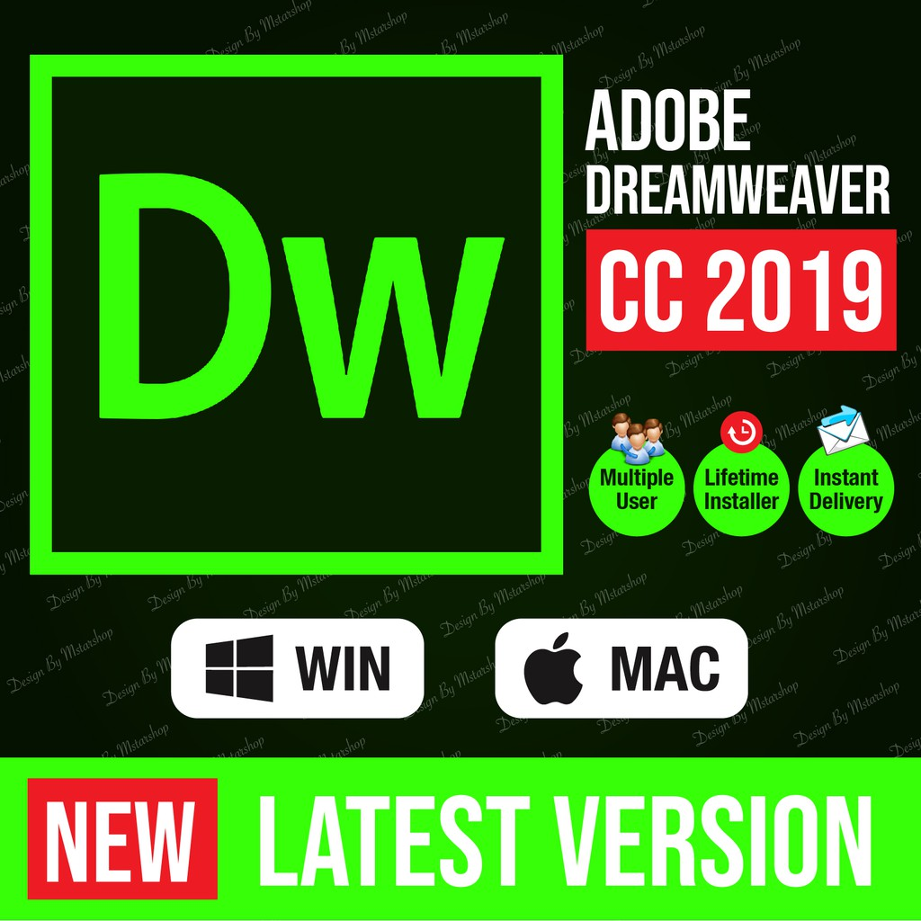 [lifetime version] Adobe Dreamweaver CC 2019 window 64 bit