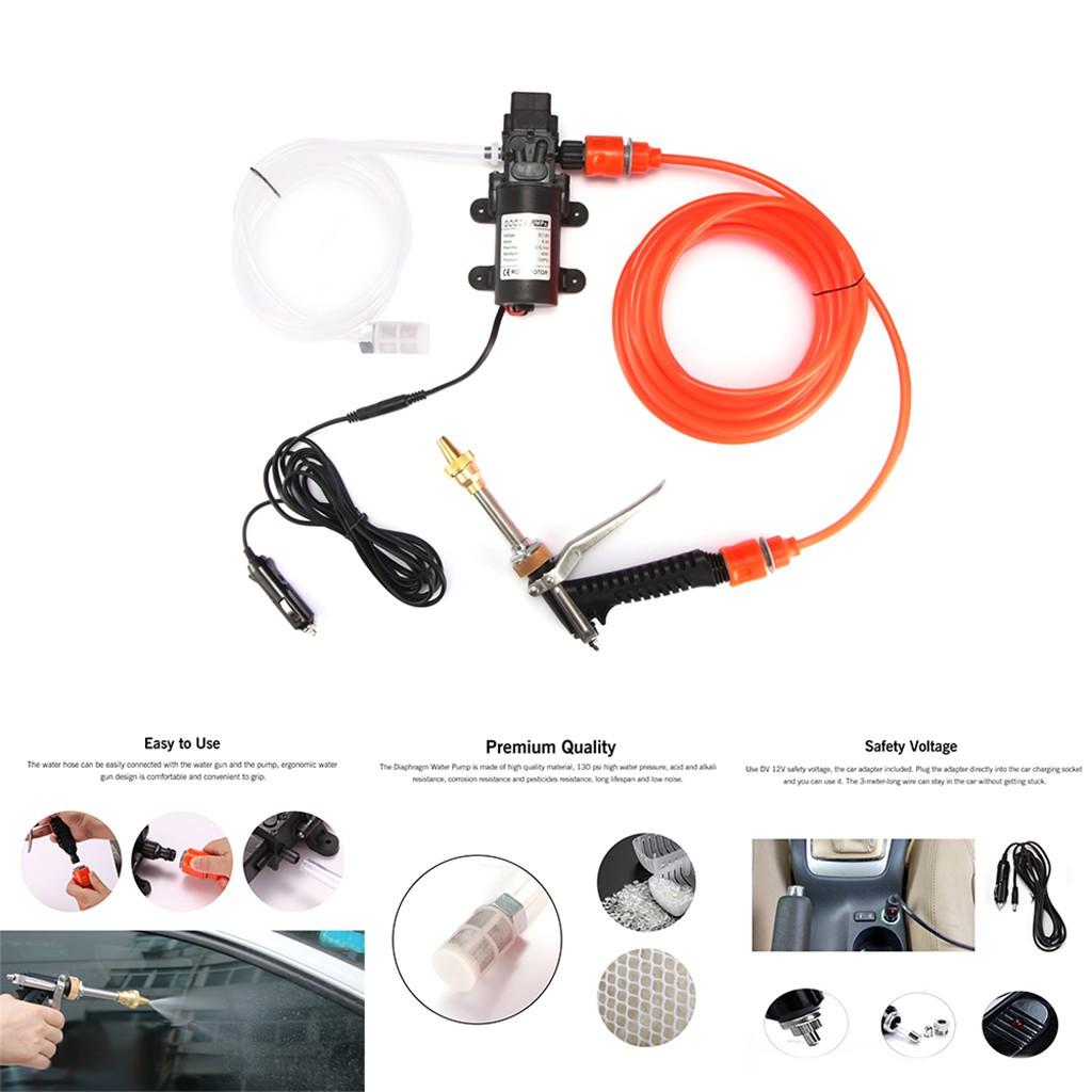 12v Portable 100w 160psi High Pressure Car Sprayer Washer Wash Water Wiring Pump Set Shopee Malaysia