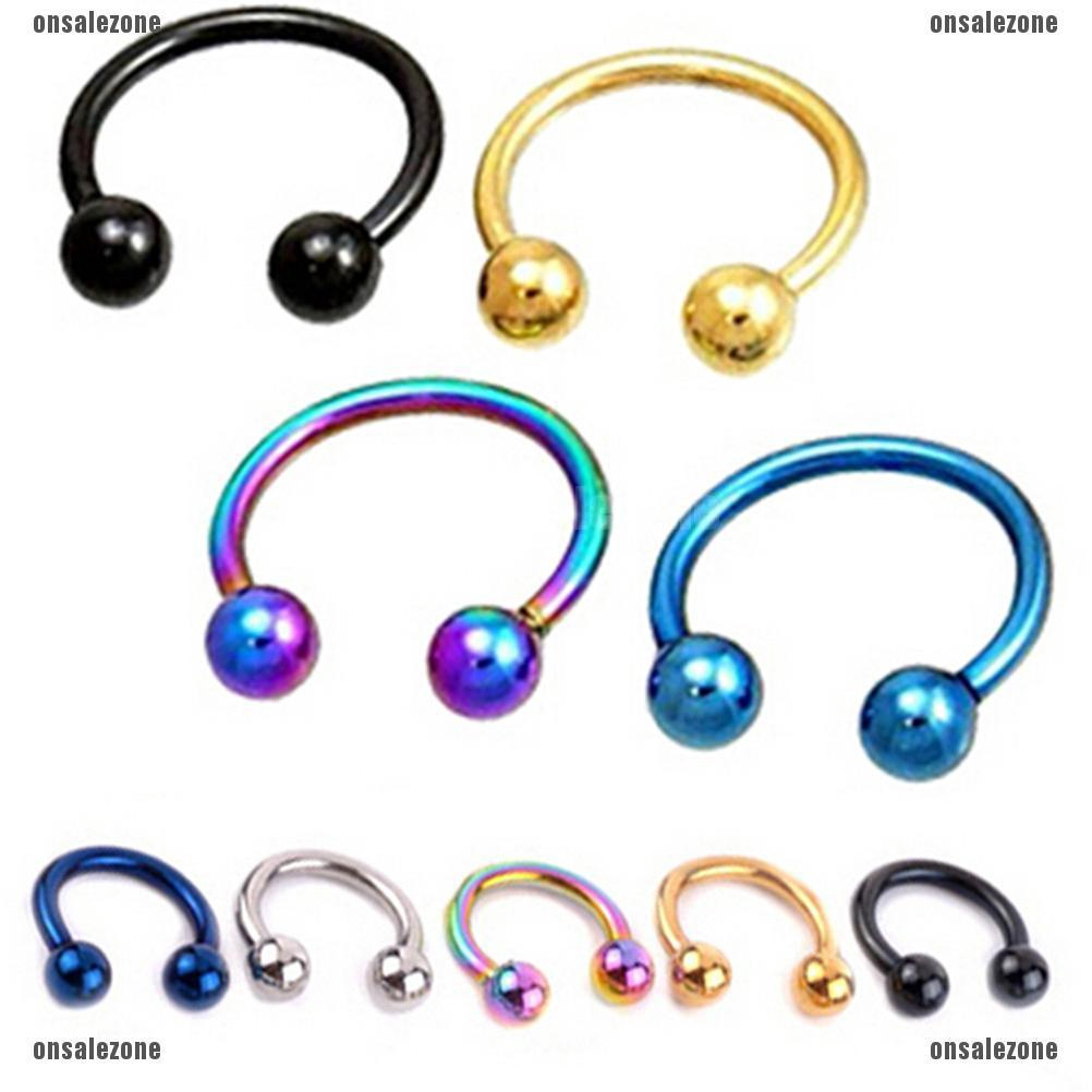Aiment 1 Piece Fake Nose Ring Lip Ear Nose Clip On Fake Piercing