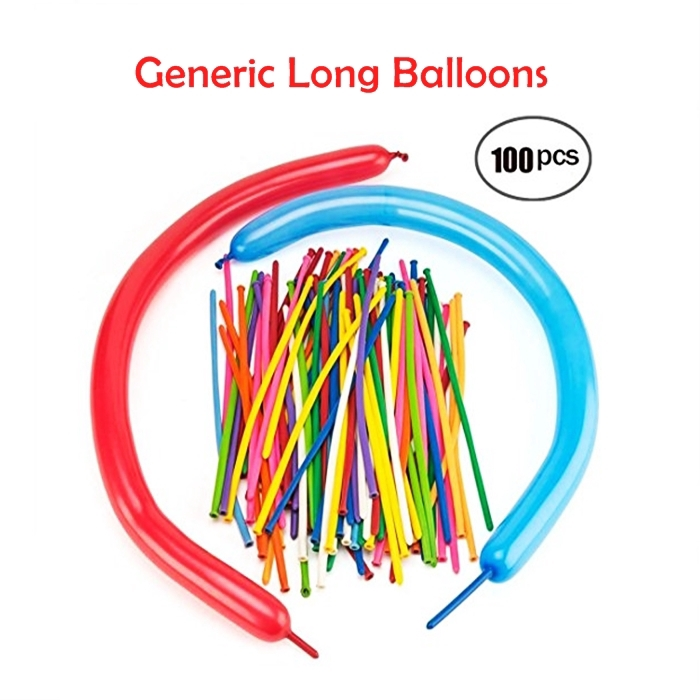 MALAYSIA] 100PCS/SET BELON HIASAN/ HARIJADI/ PARTY / Generic Long Balloons-100pcs