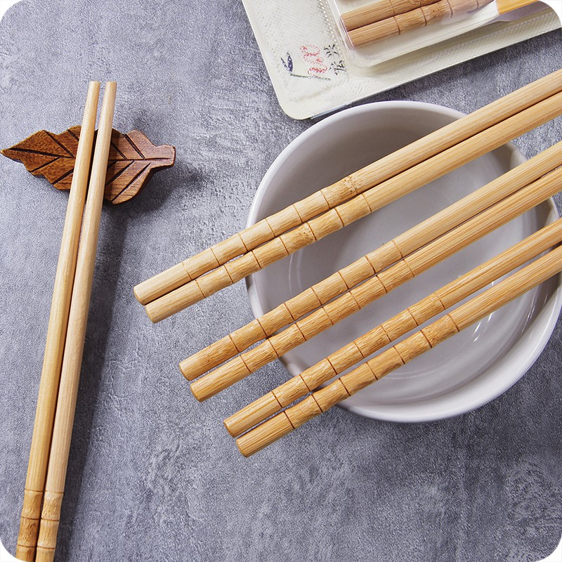 10 Pairs//set Practical Wooden Chopstick Anti-Skid Mildew Chopsticks Dishware BE