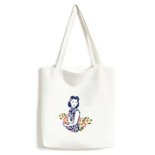 Japan Wing Hourse Ukiyo-e Leaves Canvas Drawstring Backpack Travel Shopping Bags Drawstring Bags Gym Bags