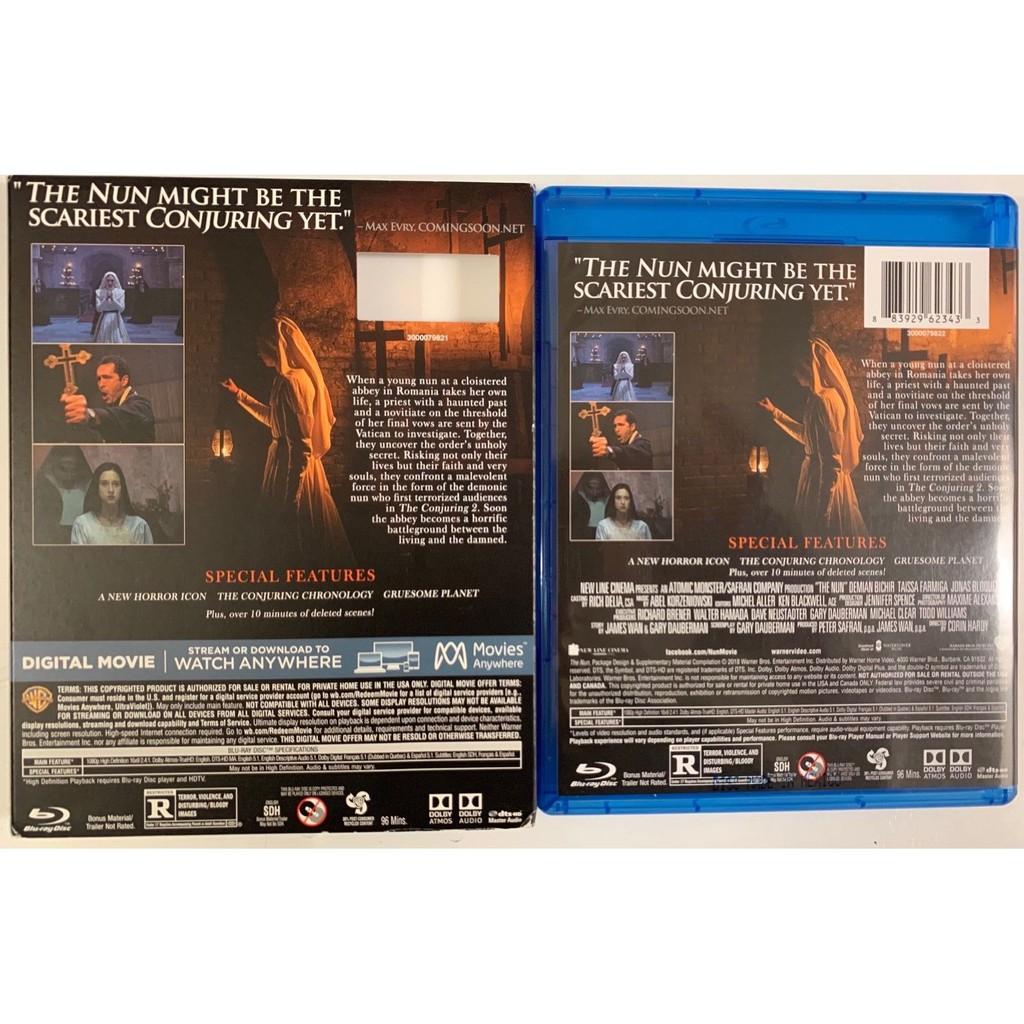 THE NUN BLU RAY DVD 2 DISC SET + SLIPCOVER SLEEVE NEW NO DIGITAL CODE  ORIGINAL