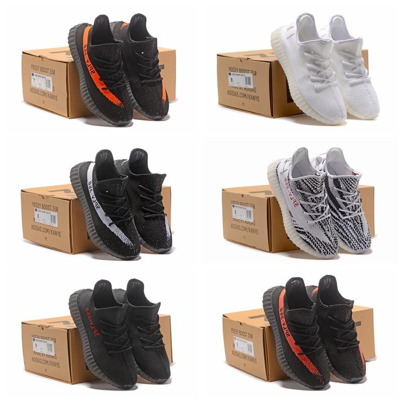 new arrivals 3bf5d 242a6 EU 36-45 Original For Adidas Yeezy 350 V2 Boost Shoe Sport Runnig Shoes