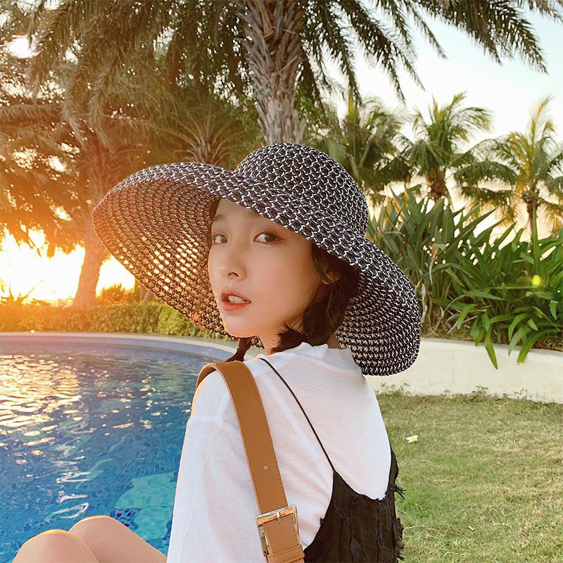 7732b2dc Women Retro Foldable Sunscreen Bucket Straw Hat Outdoor Casual Travel Beach  Hat | Shopee Malaysia