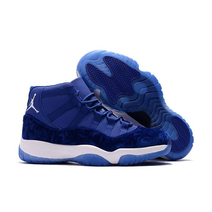 18b1319fe7c2 Kiyan Air Jordan 11 GS PE Royal Blue-White For Men and Women ...