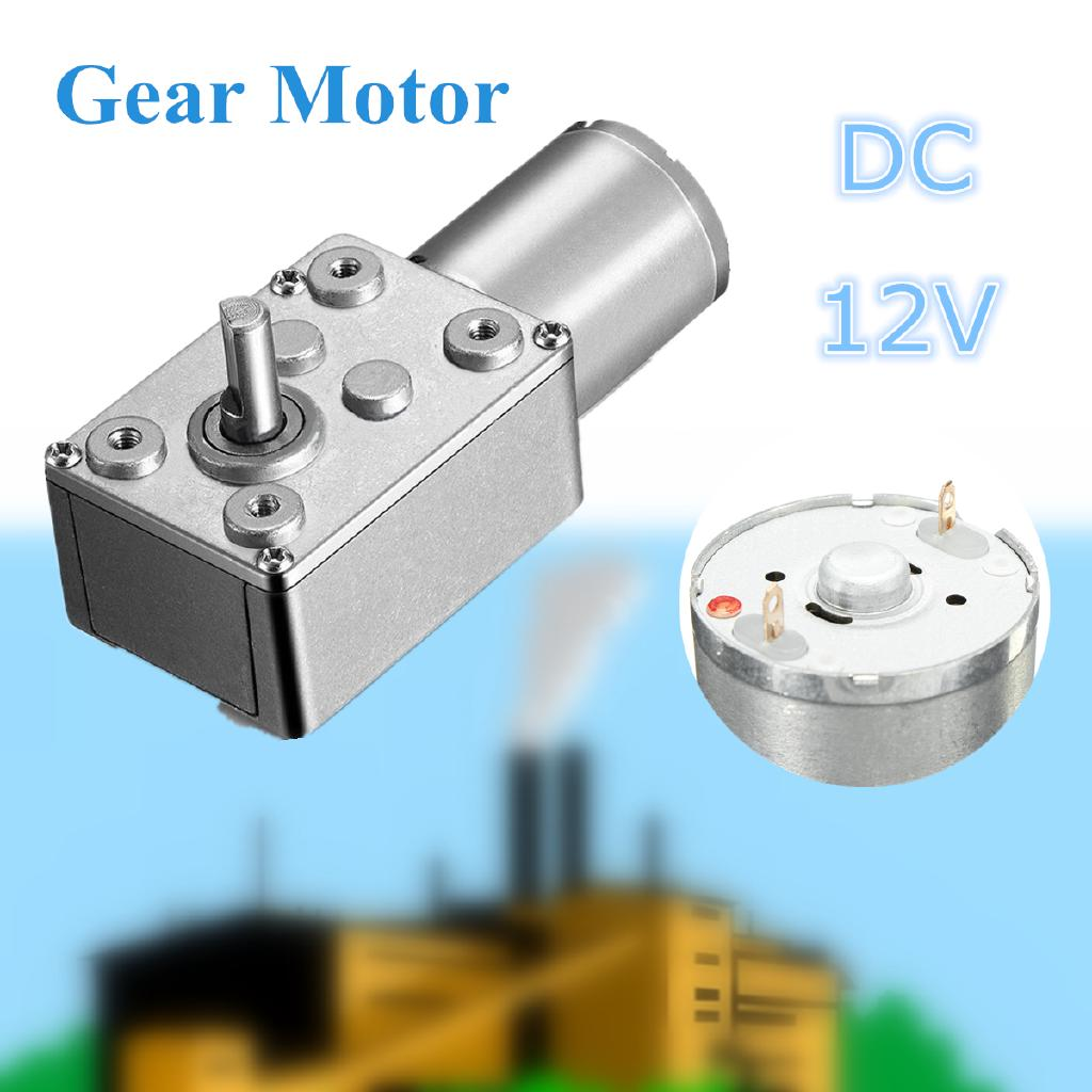 DC12V Reversible High Torque Turbo Worm Geared Motor 0.6-120RPM Self-Locking UK`