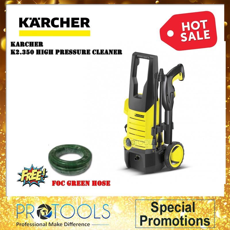 KARCHER HIGH PRESSURE WASHER K2 350 / FOAM NOZZLE FJ6 - 1 YEAR WARRANTY
