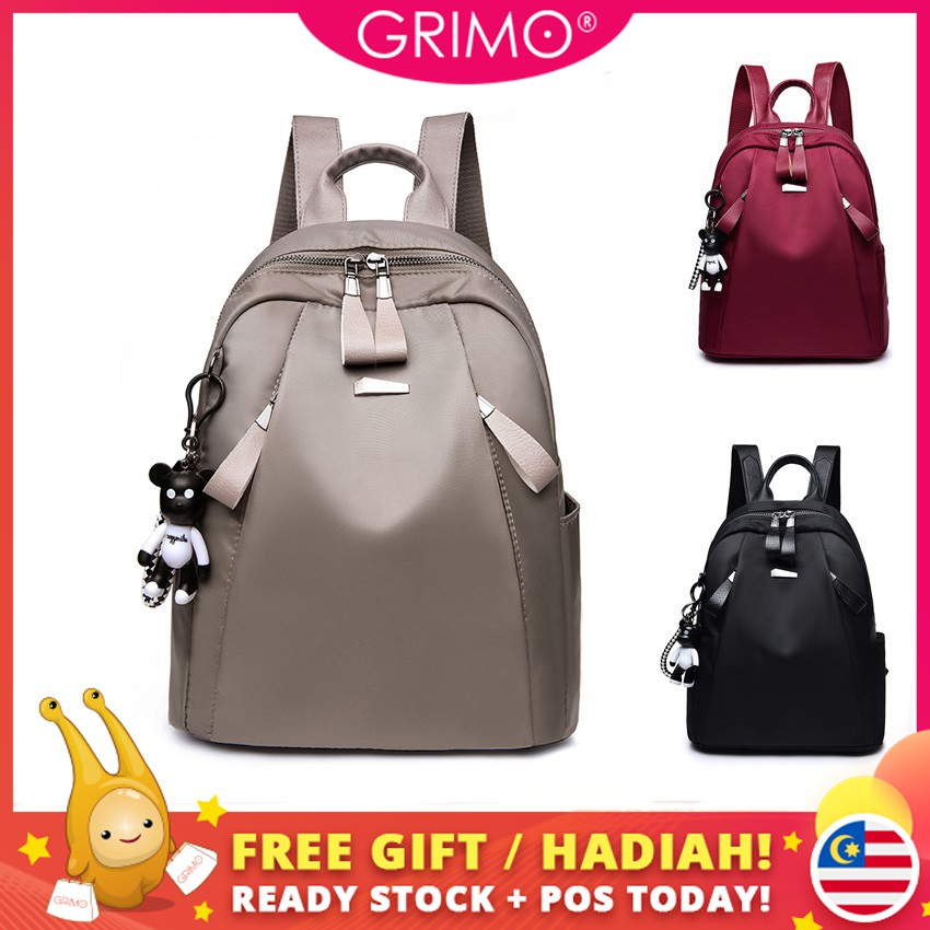 62bc94525 Fashion Lady waterproof trend backpack Oxford cloth travel backpack student  bag | Shopee Malaysia