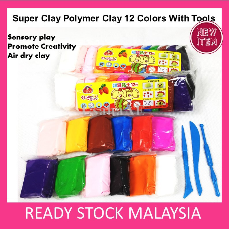 DIY Super Air Light Clay Modeling Polymer Clay Air Dry Magic Clay