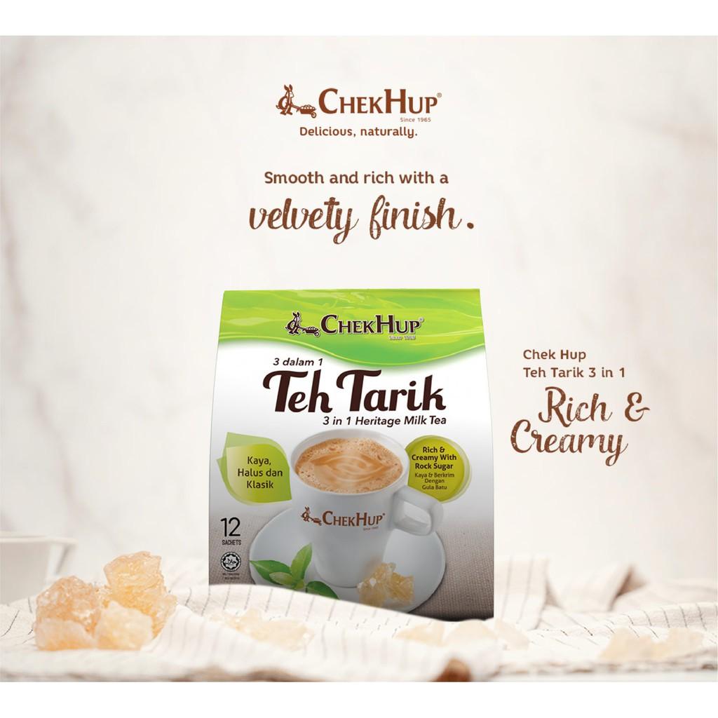 Chek Hup 3 in 1 Teh Tarik Rich & Creamy (40g x 12s)