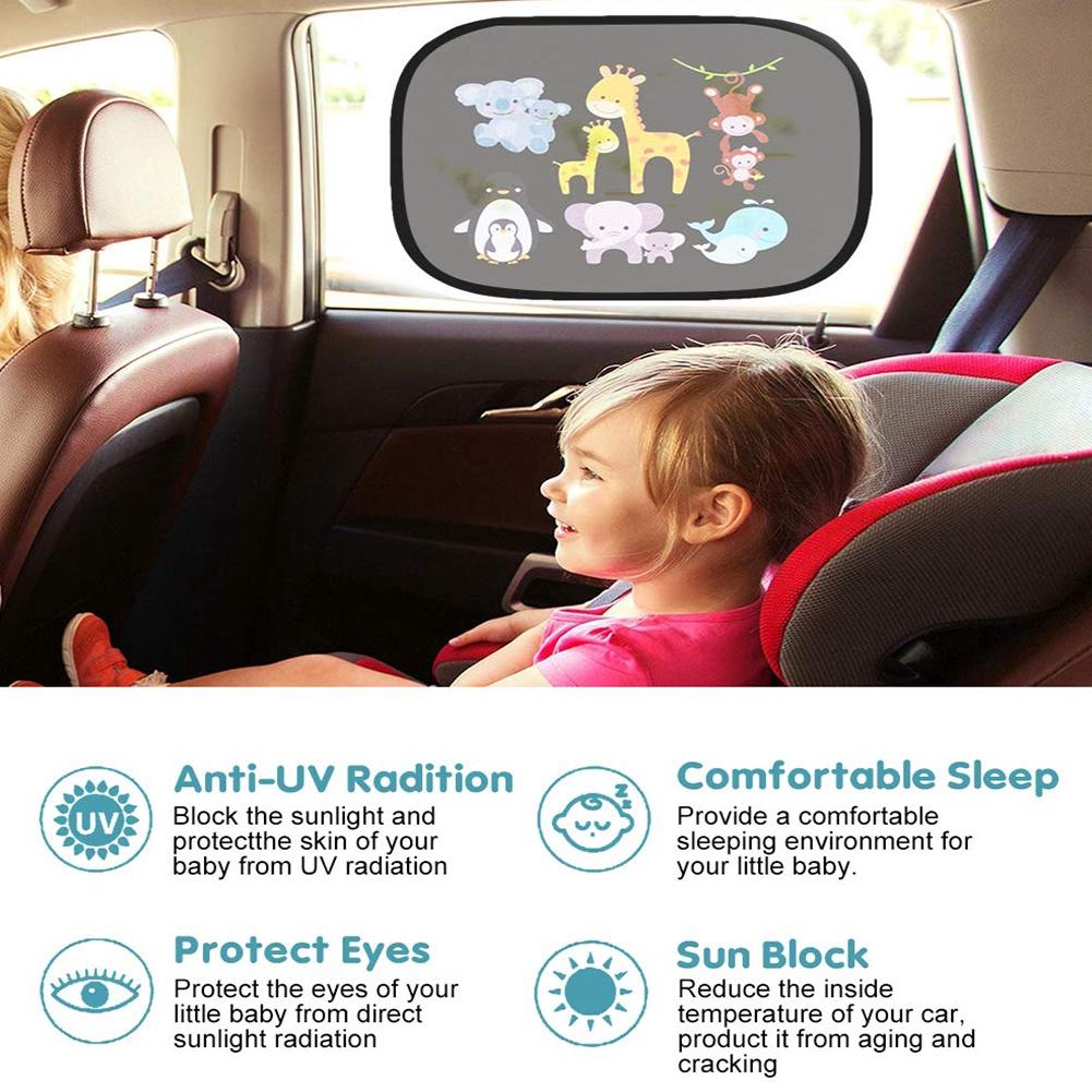 Car Shades For Window Baby Car Window Shades For Baby Sun Shades For Car Windows Baby Baby Car Sun Shade Screen Sun Protector For Car For Babies Sun Visor For Cars Baby 2pairs random pattern,one size
