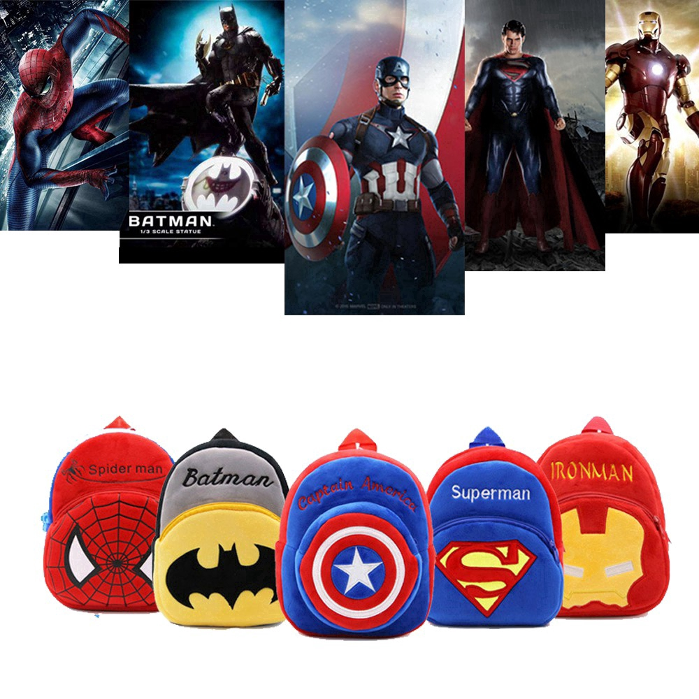 f8f902481ca18a SpotCute Kids Bag 3D Super Hero Small Backpack for Baby Toddler Boys ...