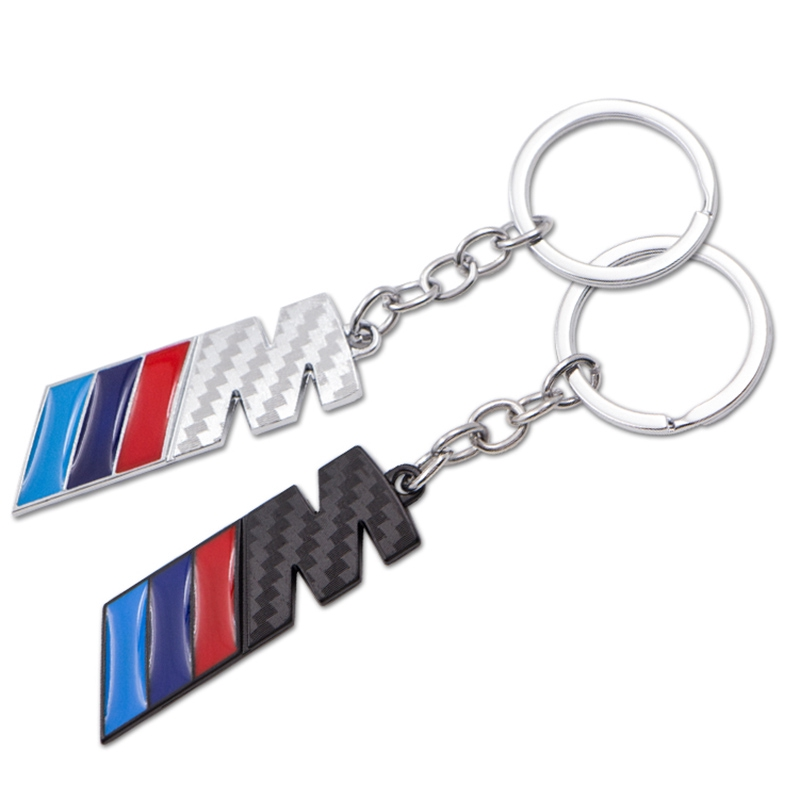 New BMW M Performance Keyring Fan Gift Fob Metal Silver Carbon Look M3 M Pack M5