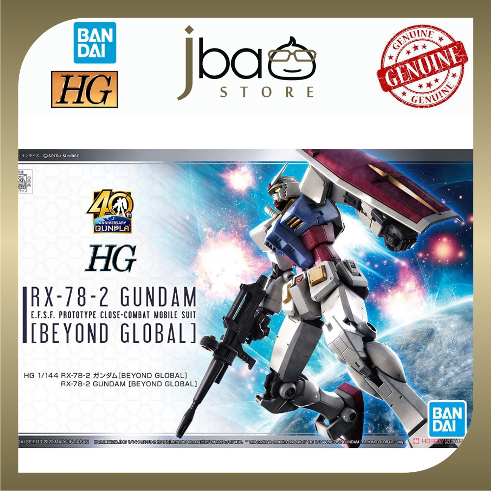 Bandai 1/144 RX-78-2 Gundam Beyond Global HG E.F.S.F. Prototype Mobile Suit Model Kits