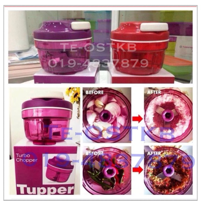 Tupperware Turbo Chopper Red
