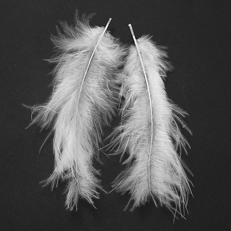 100pcs Fluffy Marabou Feathers Party Wedding Trimming Home DIY 8-15cm White ^