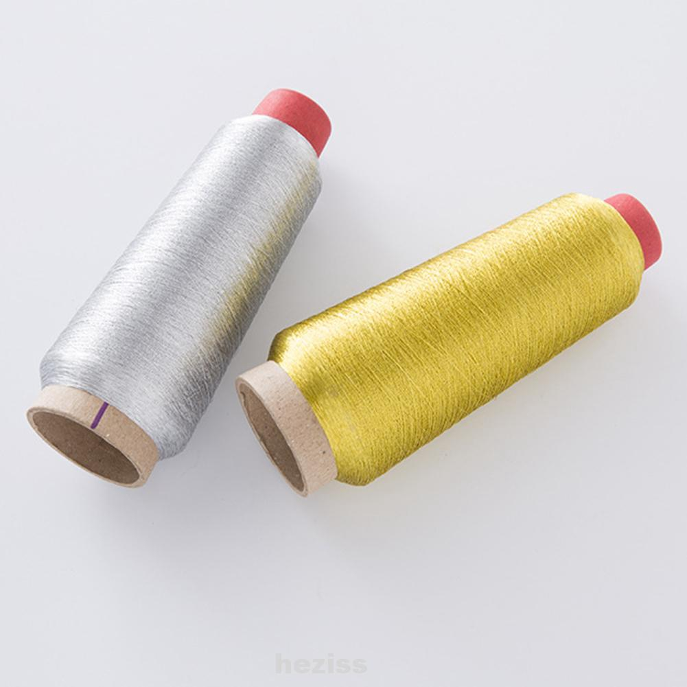 150D embroidery thread knitting and crochet silver gold