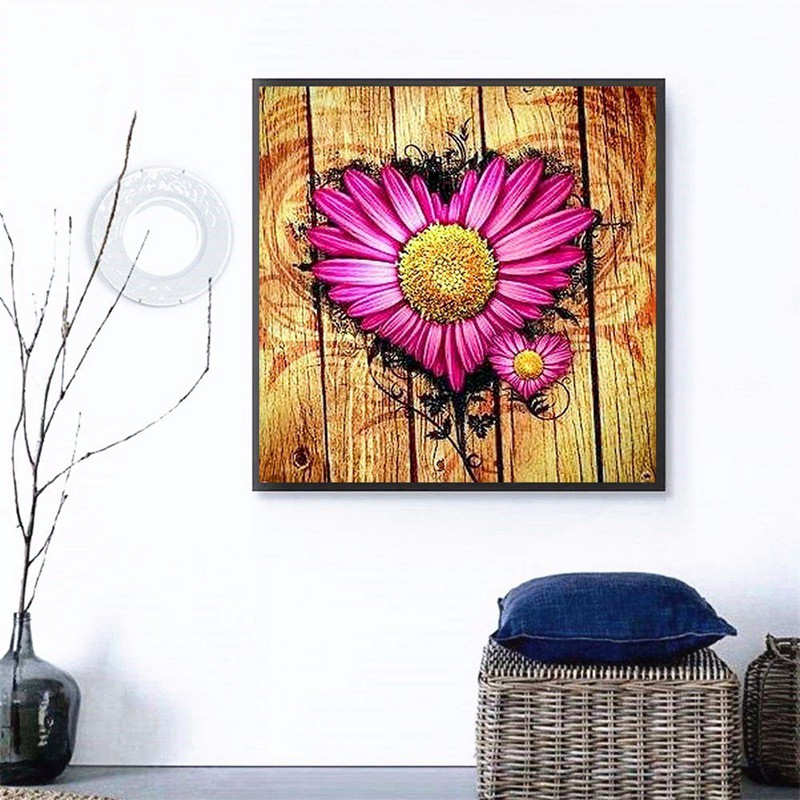 ☼→♥Embroidery Nature Flowers Diamond Painting Full Square Flower Pictures Of Rhinestones N