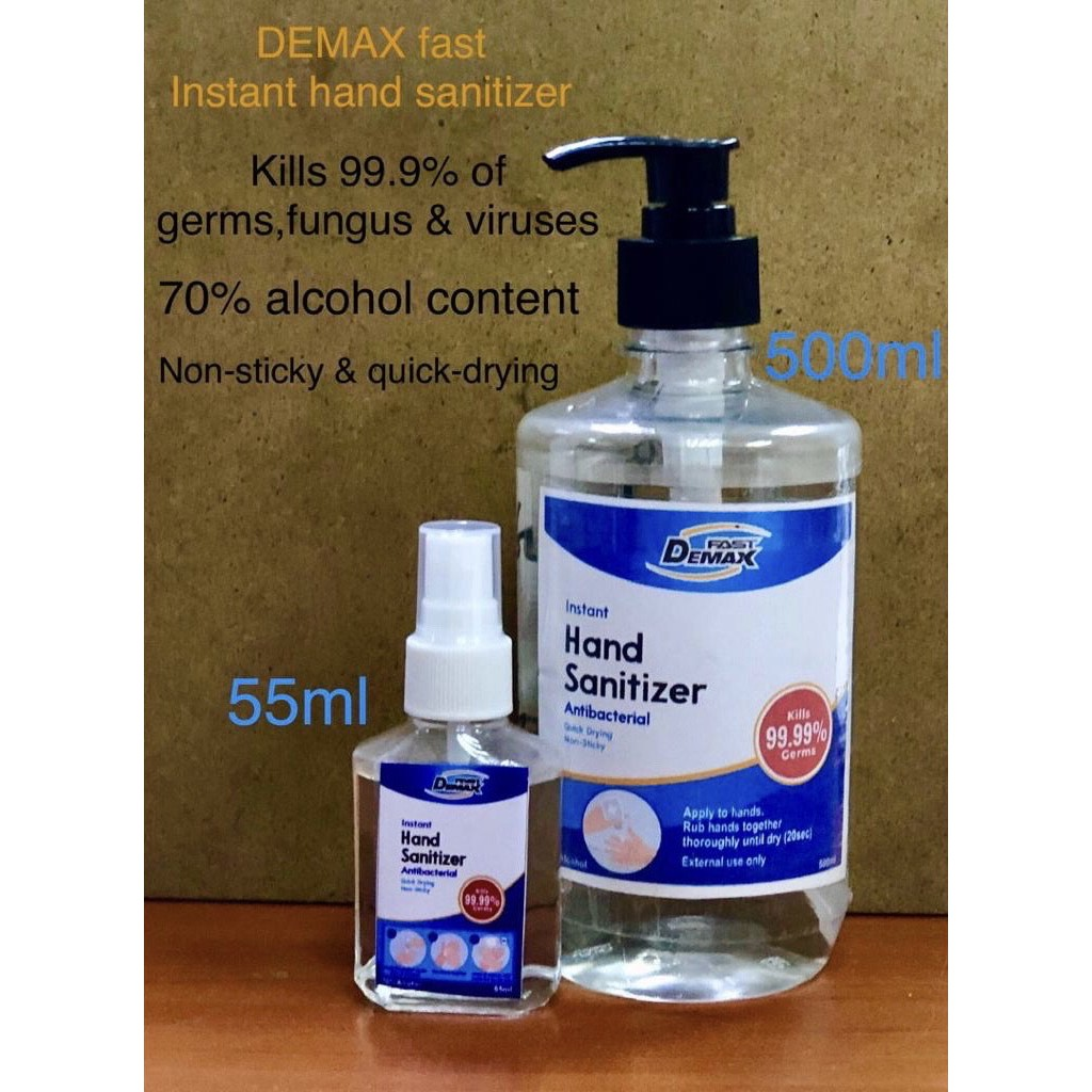 [Ready Stock] 500ml DEMAX FAST 70% Alcohol Hand Sanitizer (Water Base)