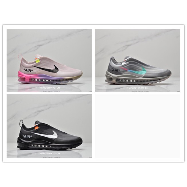 Off White X Nike Air Max 97 OG OW Women's Running Shoes Sport Outdoor Sneakers Comfortable Breathable