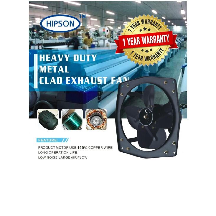 18 hipson heavy duty metal exhaust fan low noise 18 heavy duty metal clad exhaust fan 18