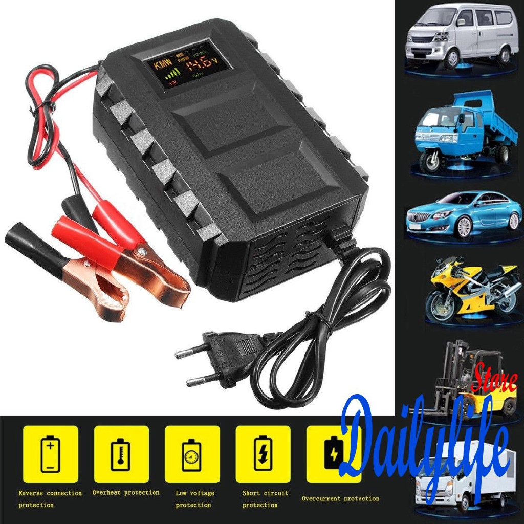 Himitzu 6v 12v 20a Lead Acid Car Battery Charger Made In Malaysia 2a With Short Circuit Protection Shopee