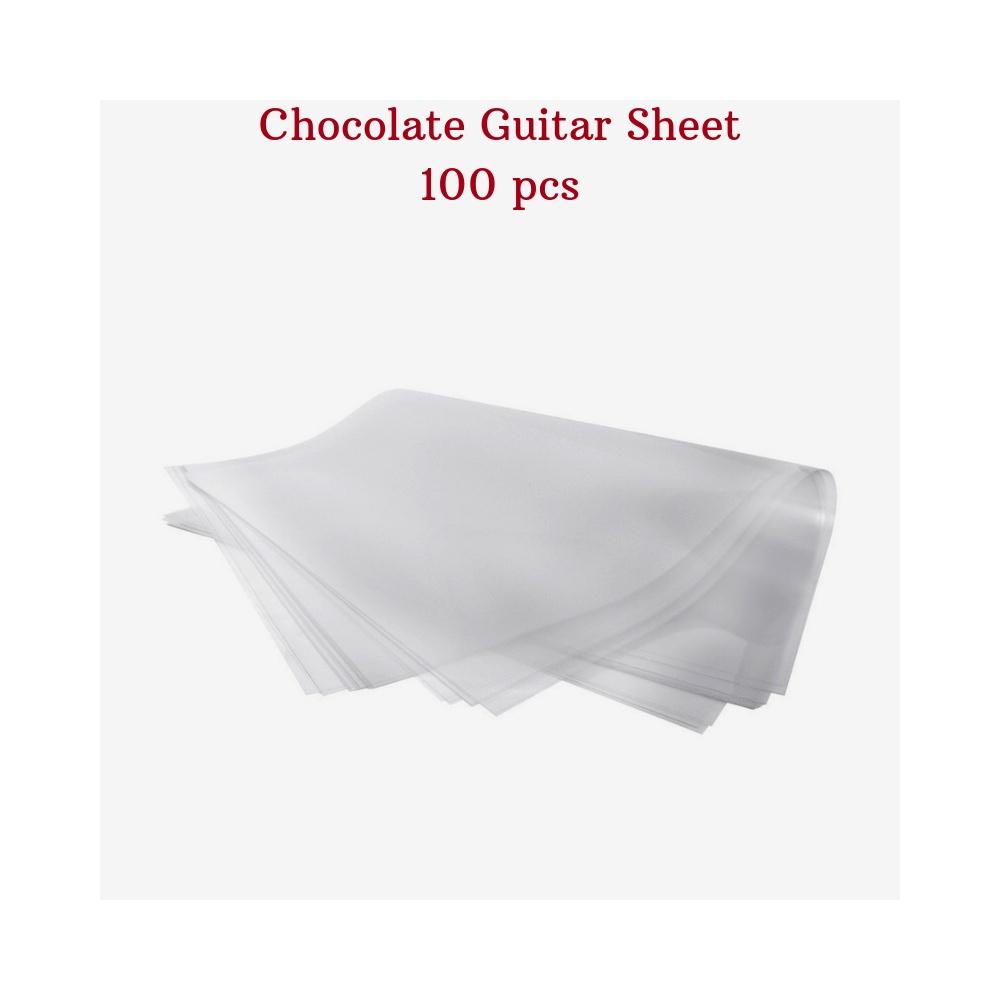 Chocolate Guitar Sheet, 100-pcs