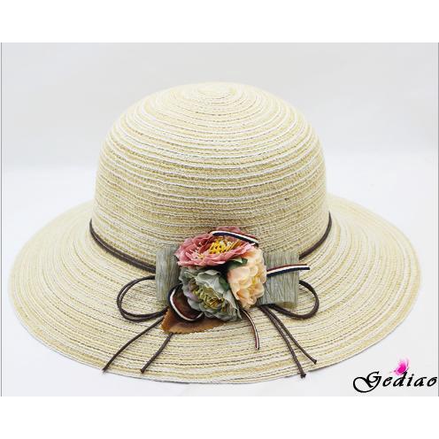 46da9d86ad1 Ged♥Hot Summer Floppy Straw Hat Women Ladies Wide Brim Beach Hat Sun  Foldable