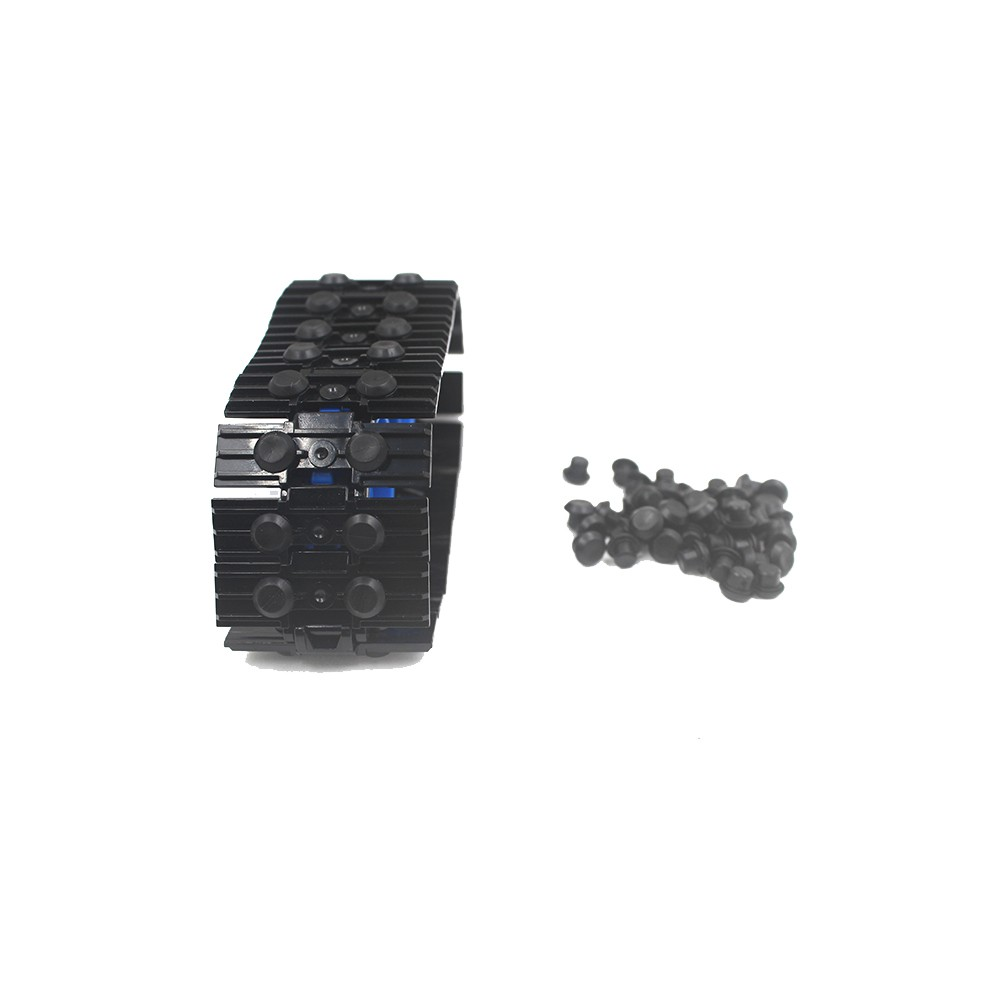 Technic Part Rubber Stopper Chain link Grip Caterpillar Track Brick Attachmen